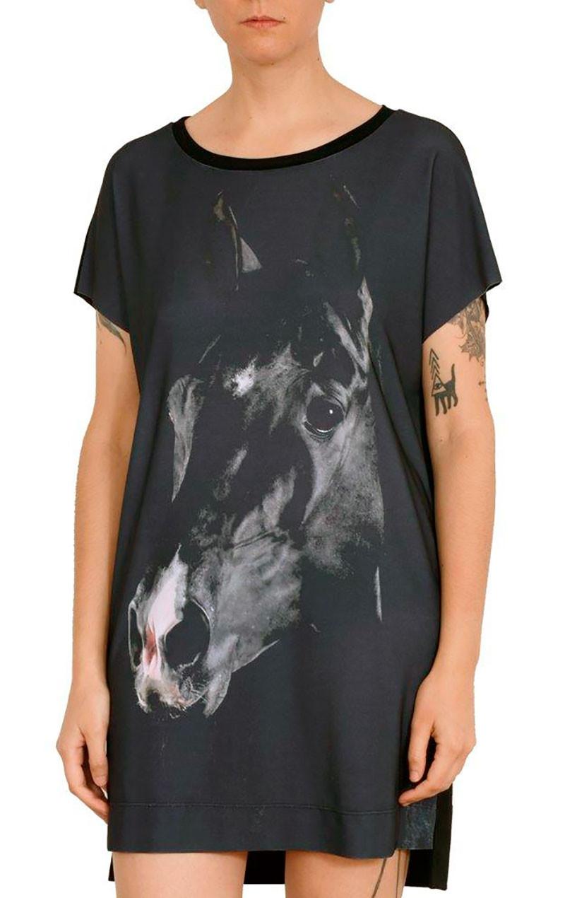 Camiseta Vestido Premium Cavalo