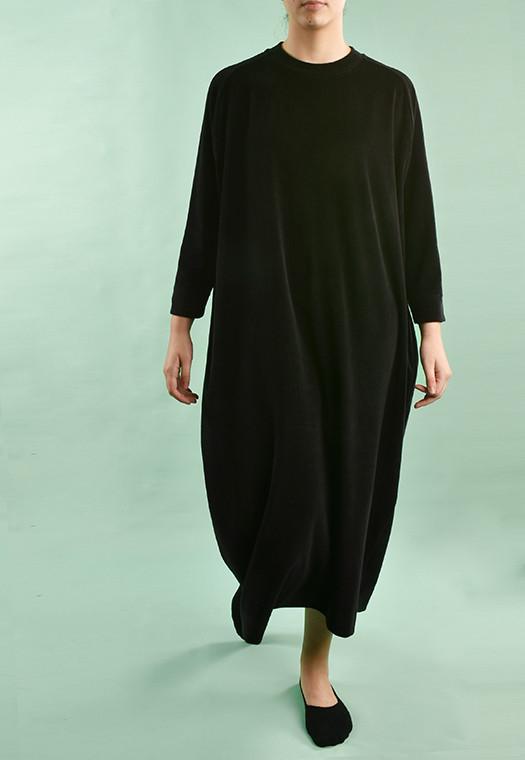 Vestido Longo Plush Preto Infinito
