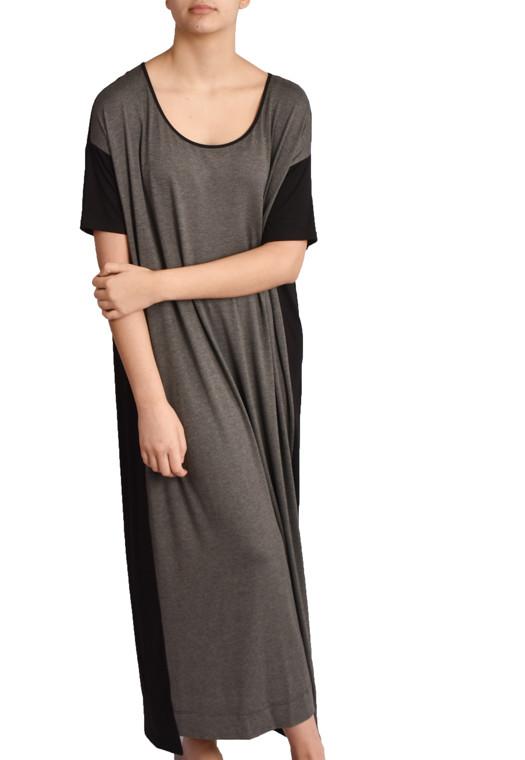Vestido Amplo Ardósia Mescla harmoniza natureza experimente USENATUREZA 1