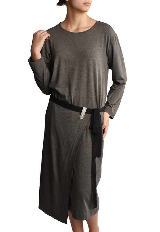 Vestido Avental Ardósia Mescla