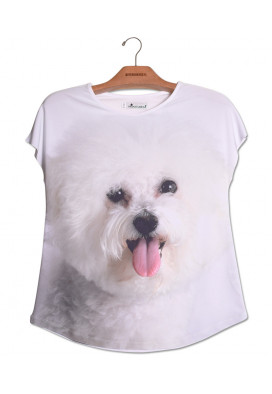 camiseta-estampa-bichon-frise-usenatureza