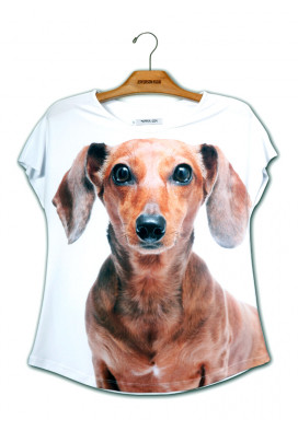 Camiseta Premium Evasê Dachshund