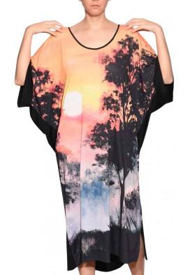Kaftan Prima Sombras Espatuladas aconchego natural confortwear USENATUREZA 2