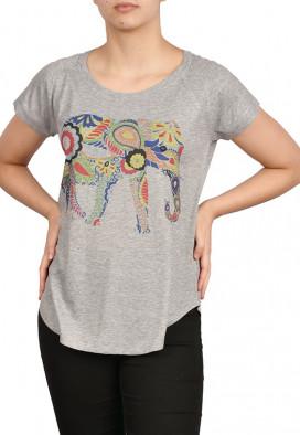 Camiseta Canelada Elefante