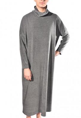 Vestido longo de plush
