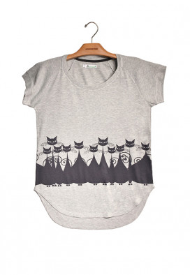 Camiseta Canelada Gatinhos