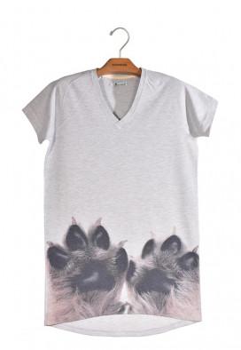 Vestido Camiseta Piquet Patinhas