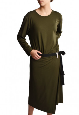 Vestido Avental Verde Cedro