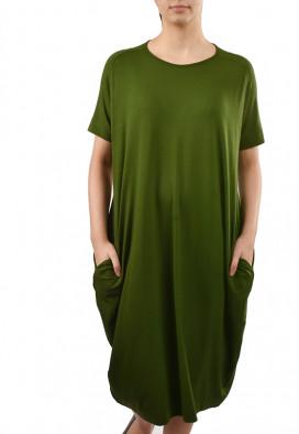 Vestido C/ Bolsos Verde Musgo