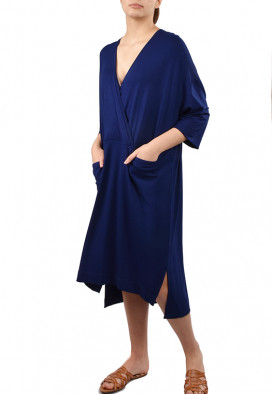Vestido Cache Coeur Azul Profundo