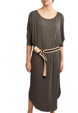 Vestido Midi Agave Ardósia Mescla