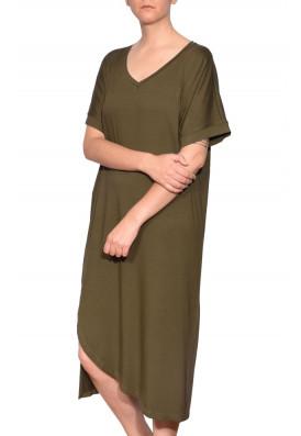Vestido Decote V Floresta