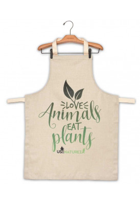 Avental Love Animals Eat Plants