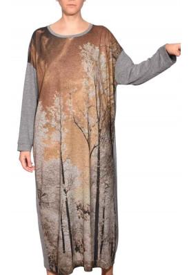 Vestido Longo Prima Outono Âmbar