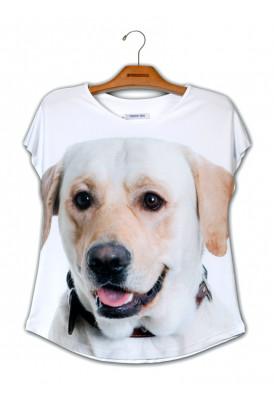 Camiseta Premium Evasê Labrador Mel