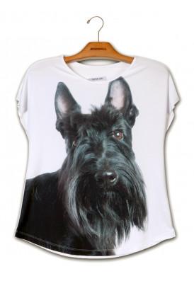 Camiseta Premium Evasê Scoth Terrier