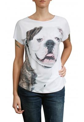 Camiseta Premium Evasê Bulldog Inglês