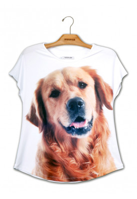 Camiseta Premium Evasê Golden Retriever