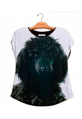 Camiseta Premium Evasê Poodle Preto