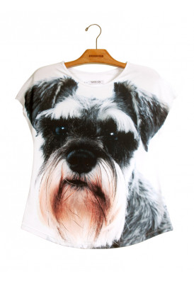 Camiseta Premium Evasê Schnauzer