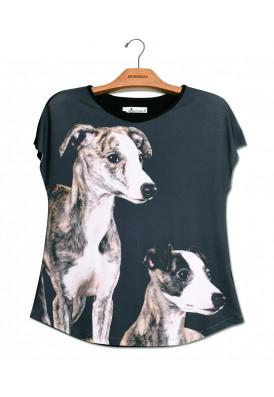 Camiseta Premium Evasê Whippet