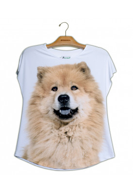 Camiseta Premium Evasê Chow Chow