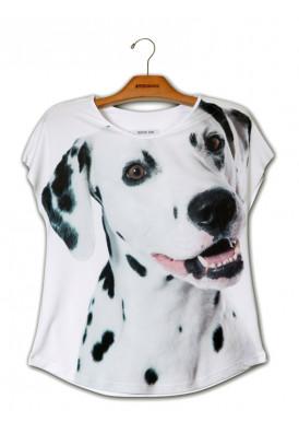 Camiseta Premium Evasê Dálmata