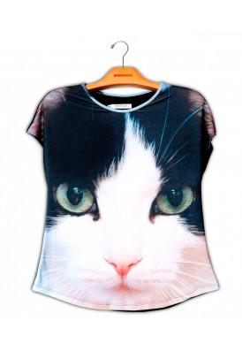 Camiseta Premium Evasê Gato SRD