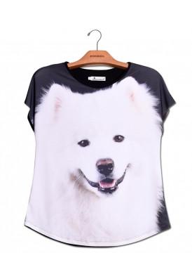 Camiseta Premium Evasê Samoieda