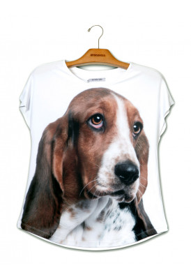 Camiseta Premium Evasê Basset Hound