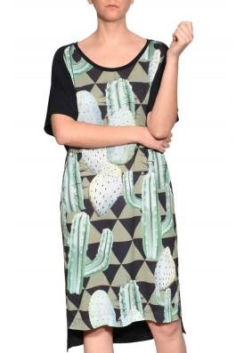Vestido Solto Midi Cactus
