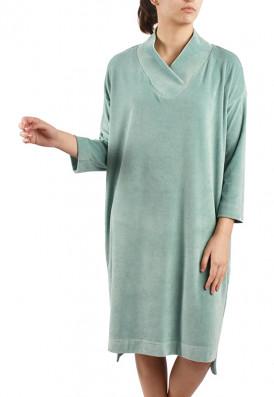 Vestido Amplo Plush Verde Água