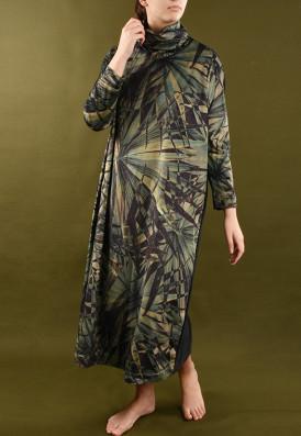 Vestido Plush Palmeira Leque