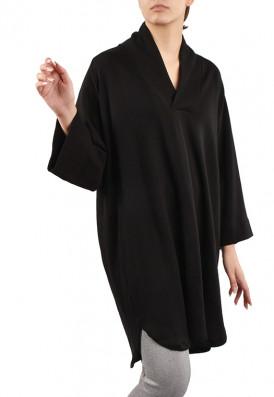 Vestido Amplo Moletom Preto