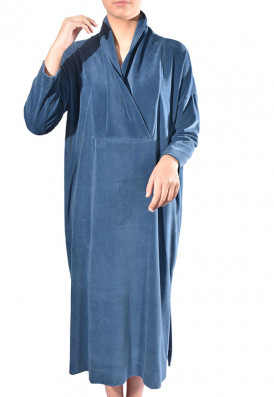 Kaftan Plush Azul da Prússia
