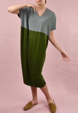 Vestido Agave Eucalipto E Verde Musgo