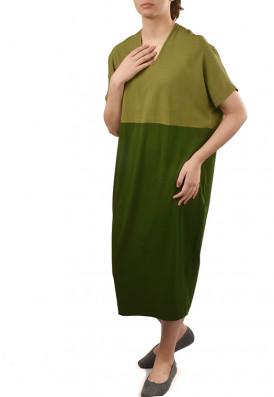 Vestido Agave Verde Mate e Verde Musgo