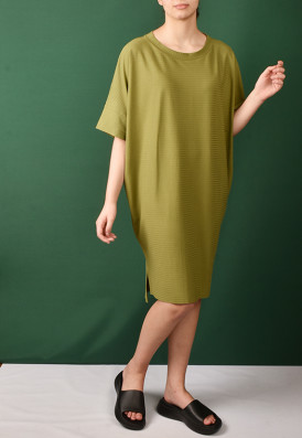 Vestido Punho Agave Verde Mate
