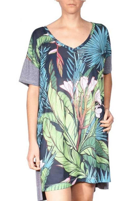 Camiseta Vestido Prima Tropical
