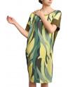 Vestido Folhas Green sustentavel eco-friendly feito a mão USENATUREZA 5