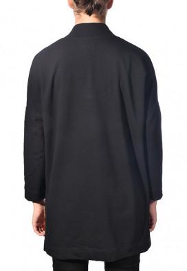 Blusa básica de moletom preto
