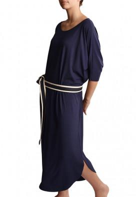 Vestido Confortavel Azul Noite