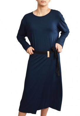 Vestido Avental Azul Noite