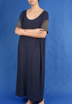 Vestido Amplo Azul da Prússia
