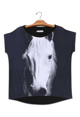 Blusa Premium Quadradasim Cavalo  Tordilho