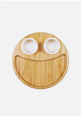 Conjunto Para Petisco em Bambu