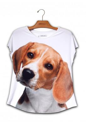 Camiseta Premium Evasê Beagle