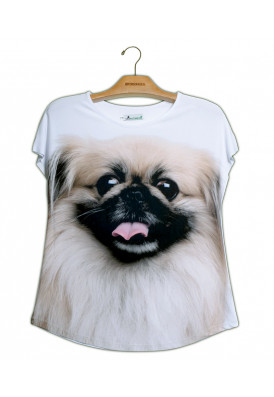Camiseta Premium Evasê Pequinês