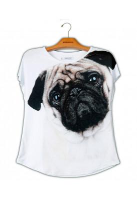 Camiseta Premium Evasê Pug