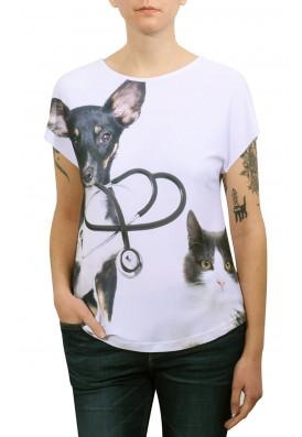 Camiseta Premium Evasê Estetoscópio - SRD